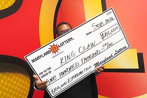 Clerk's mistake leads Maryland man to $100,000 lottery jackpot